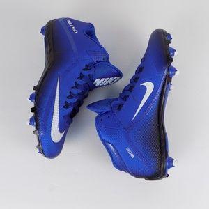Nike Alpha Pro Blue Football Cleats Mens Size 11.5